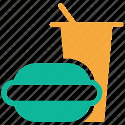 burger, fast food, junk food, soda icon