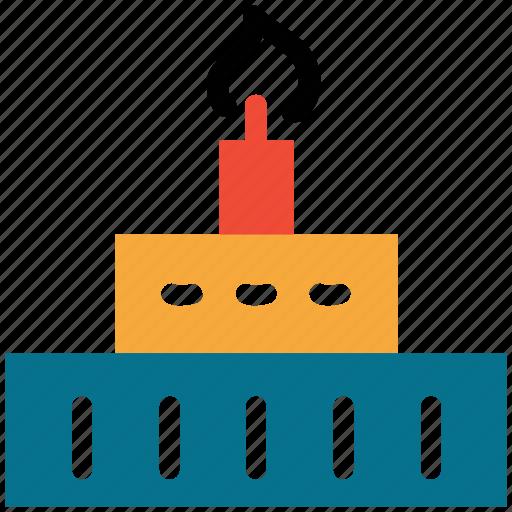 birthday cake, cake, dessert, food icon