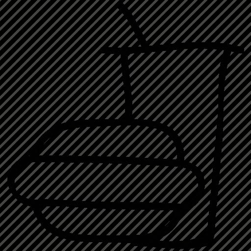 burger, junk food, soda, unhealthy food icon