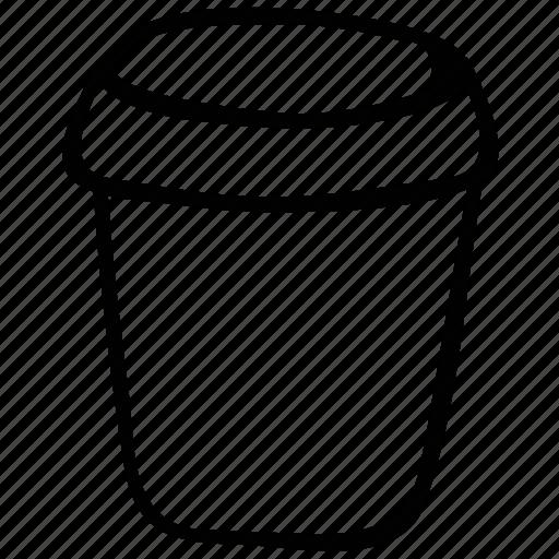 jar, jar of jam, open jar, pot icon