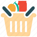 basket, food, food basket, shopping icon