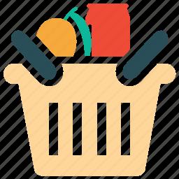 basket, food, food basket, shopping icon