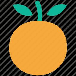 food, fresh fruit, fruit, orange icon