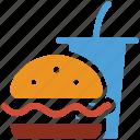burger, drink, fastfood, junk food