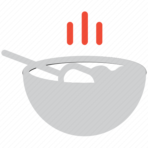 bowl, hot food, hot soup, soup icon