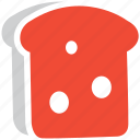 bread piece, bread slice, bread toast, slice of bread icon