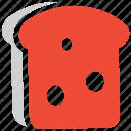 bread piece, bread slice, bread toast, slice of bread icon