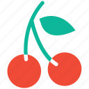 cherries, food, fresh fruit, fruit icon
