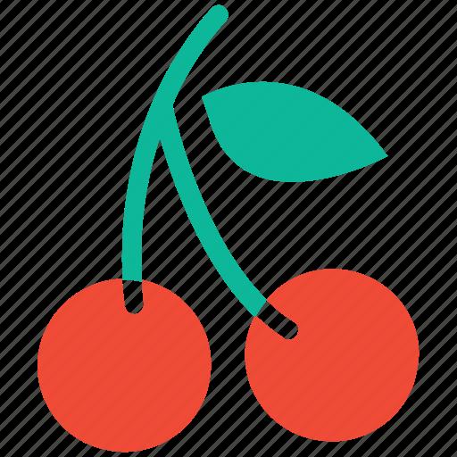 cherries, food, fresh fruit, fruit icon