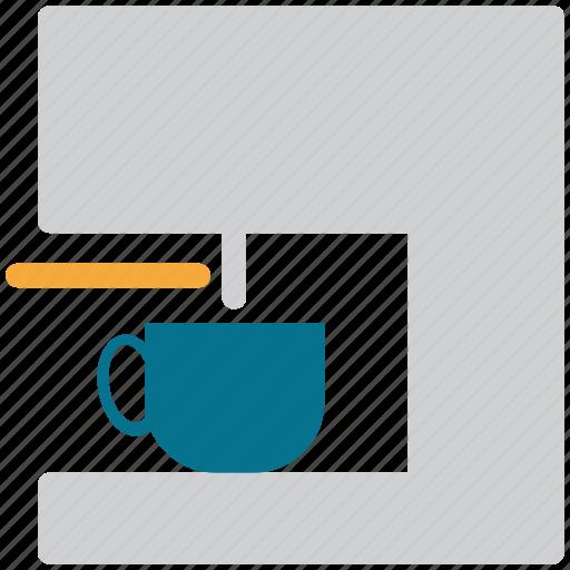 coffee, coffee machine, coffee maker, food icon