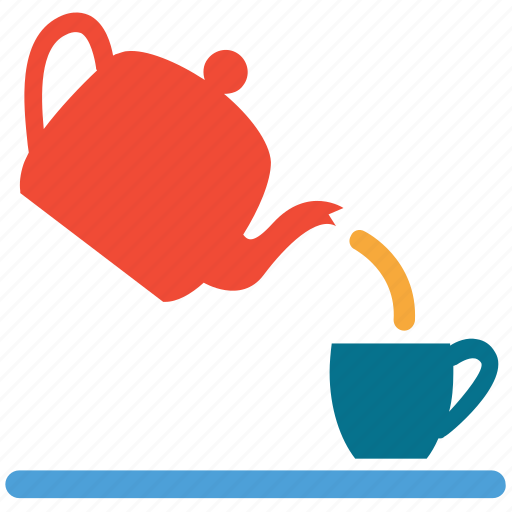 serving tea, tea cup, tea serving, teapot icon