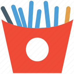 french fries, fries, fries pack, junk food icon