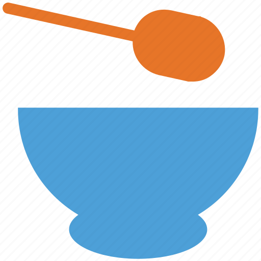 food, soup, soup bowl, spoon icon