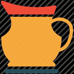 jug, kitchen tool, milk in jug, water jug icon