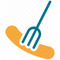 bratwurst, bratwurst on fork, hotdog, meat icon