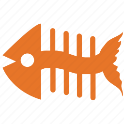 fish bone, fish eaten, food, sea food icon