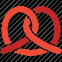 bagel, food, pretzel, traditional pretzel icon