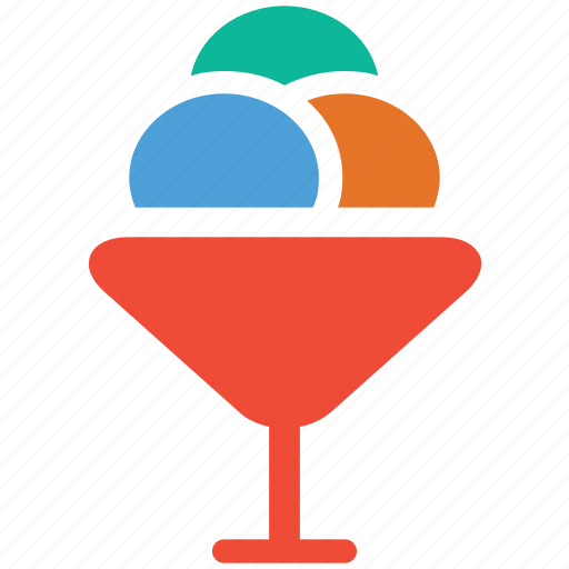 dessert, food, icecream, icecream scoops icon