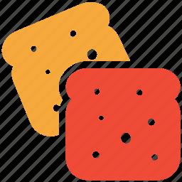 bread, bread pieces, bread slices, toasts icon