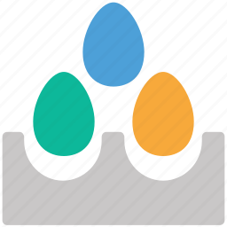 breakfast, eggs, eggs tray, food icon