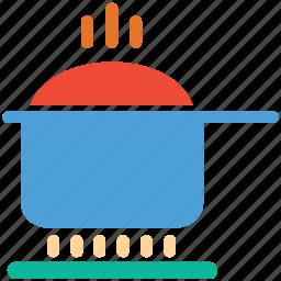 cooking pot, food, hot pot, saucepan icon