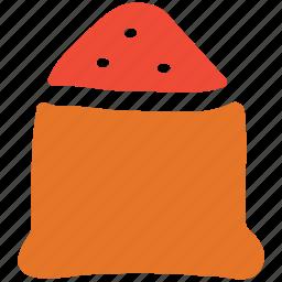 food, sack of sugar, sugar, sugar bag icon