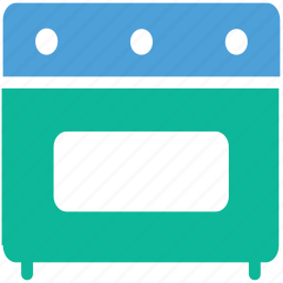 cooking range, electric stove, oven, range icon