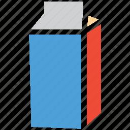food container, liquid food container, milk box, tetrabrik icon