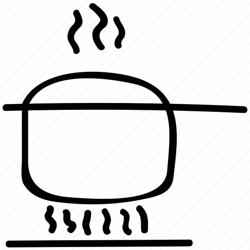 cooking, cooking pot, food preparing, pot on stove icon