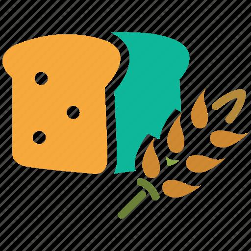 baked, bakery, bread, wheat bread icon