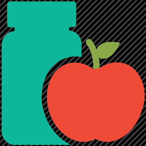 apple, apple jam, food, marmalade icon