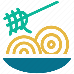chinese food, food, noodles, noodles in bowl icon