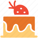 cake, dessert, fresh cake, strawberry cake icon