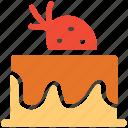cake, dessert, fresh cake, strawberry cake