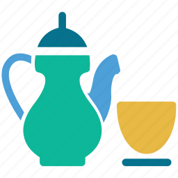 cup, tea serving, tea set, teapot icon