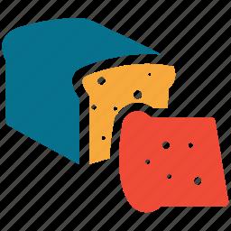 bakery, bread, food, slice icon