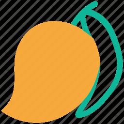 fresh, fruit, mango, tropical icon