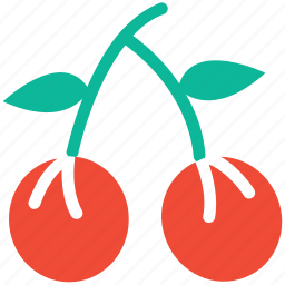 cherries, fresh, fruit, healthy food icon