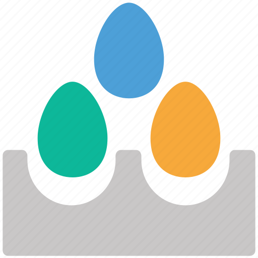 eggs, eggs tray icon