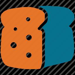 bakery, breakfast, spongecake, spongecake bar icon