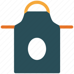 apron, bib apron, kitchen apron, kitchen equipment icon