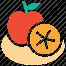 apple, fruit, fruits, lemon half icon