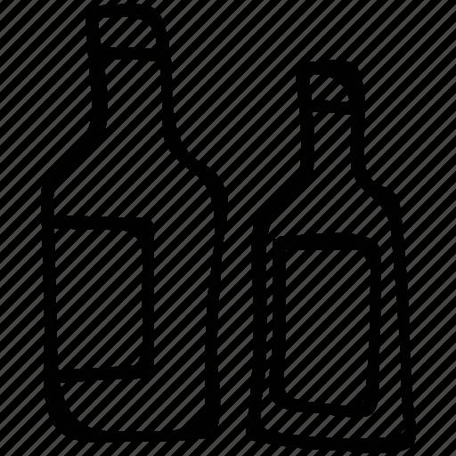 alcohol, beer, beverage, bottles icon