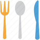 fork, spoon, cutlery, knife