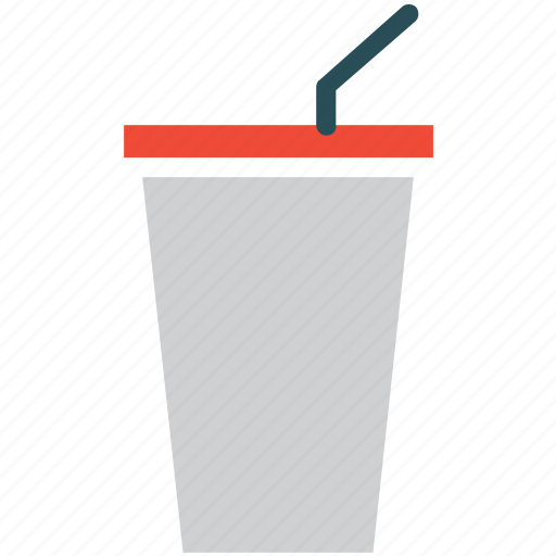 coffee cup, coffee with straw, paper cup icon