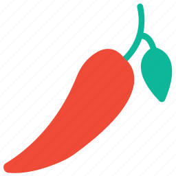 chili, chili pepper, pepper, red chili icon