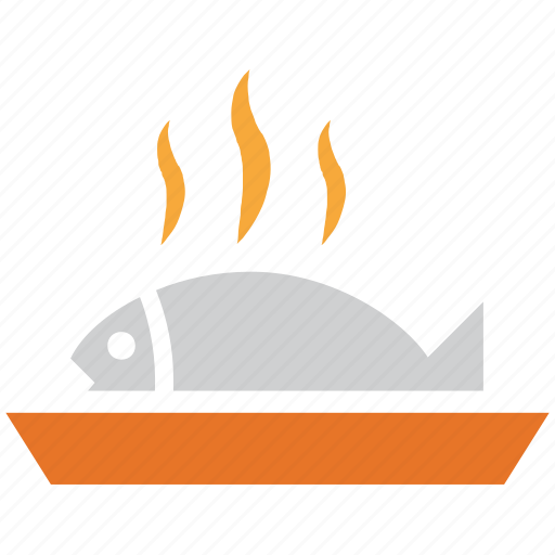 cooked fish, fished, fried fish, sea food icon