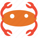 crab, food, restaurant, seafood icon