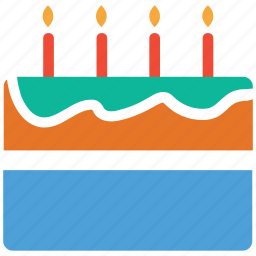 cake, dessert, food, party cake icon