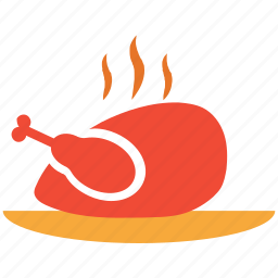 chicken, hot food, roast, roasted chicken icon